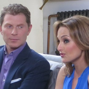 Bobby Flay and Giada De Laurentiis shoot CBS Promos at BMS